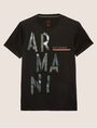 ARMANI EXCHANGE OLIVE DRAB SLIM LOGO TEE Logo T-shirt Man r