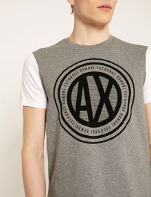 ARMANI EXCHANGE CIRCLE COLORBLOCK SLIM LOGO TEE Logo T-shirt Man b