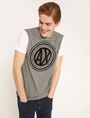 ARMANI EXCHANGE CIRCLE COLORBLOCK SLIM LOGO TEE Logo T-shirt Man a