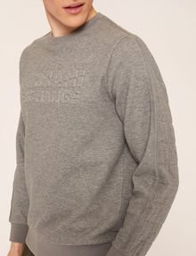 ARMANI EXCHANGE DEBOSSED LOGO GRID SWEATSHIRT Fleece Top Man b