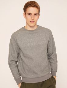 ARMANI EXCHANGE DEBOSSED LOGO GRID SWEATSHIRT Fleece Top Man f