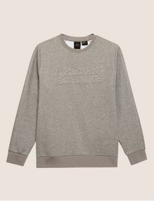 ARMANI EXCHANGE DEBOSSED LOGO GRID SWEATSHIRT Fleece Top Man r