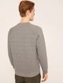 ARMANI EXCHANGE DEBOSSED LOGO GRID SWEATSHIRT Fleece Top Man e