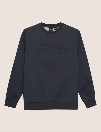 DEBOSSED LOGO GRID SWEATSHIRT