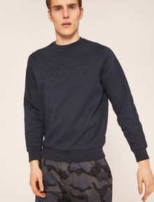 ARMANI EXCHANGE DEBOSSED LOGO GRID SWEATSHIRT Sweatshirt [*** pickupInStoreShippingNotGuaranteed_info ***] a