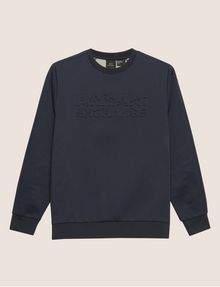 ARMANI EXCHANGE DEBOSSED LOGO GRID SWEATSHIRT Sweatshirt [*** pickupInStoreShippingNotGuaranteed_info ***] r