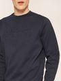 ARMANI EXCHANGE DEBOSSED LOGO GRID SWEATSHIRT Sweatshirt [*** pickupInStoreShippingNotGuaranteed_info ***] b