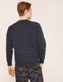 ARMANI EXCHANGE DEBOSSED LOGO GRID SWEATSHIRT Sweatshirt [*** pickupInStoreShippingNotGuaranteed_info ***] e