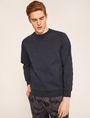 ARMANI EXCHANGE DEBOSSED LOGO GRID SWEATSHIRT Sweatshirt [*** pickupInStoreShippingNotGuaranteed_info ***] f