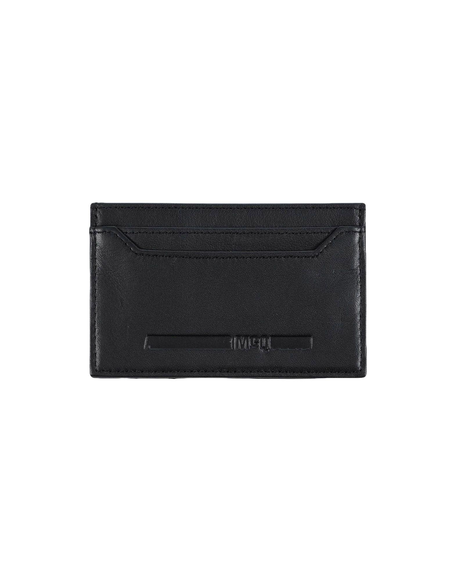 McQ Alexander McQueen メンズ 財布 ブラック 革