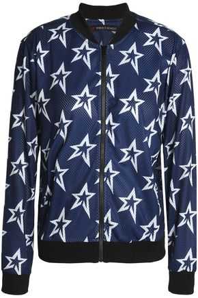 PERFECT MOMENT Printed mesh bomber jacket