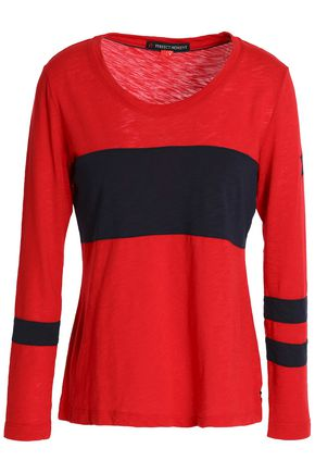 PERFECT MOMENT Slub cotton-blend jersey top