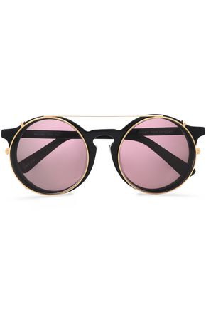 SUNDAY SOMEWHERE Round-frame acetate and gold-tone sunglasses
