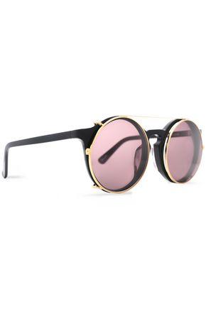 SUNDAY SOMEWHERE Round-frame acetate and gold-tone sunglasses