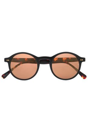 SUNDAY SOMEWHERE Round-frame tortoiseshell acetate sunglasses