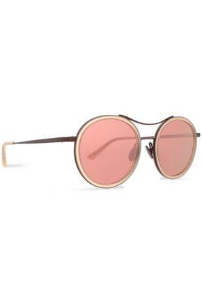 SUNDAY SOMEWHERE Round-frame acetate mirrored sunglasses