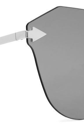 KAREN WALKER Dancer cat-eye silver-tone sunglasses