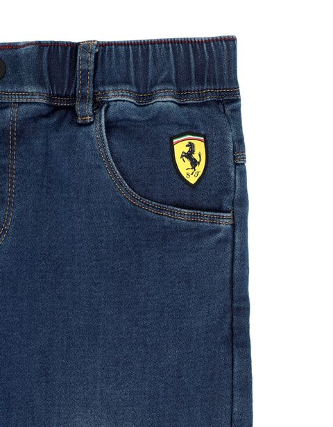 Scuderia Ferrari Online Store - Boys' denim-effect sweatpants -