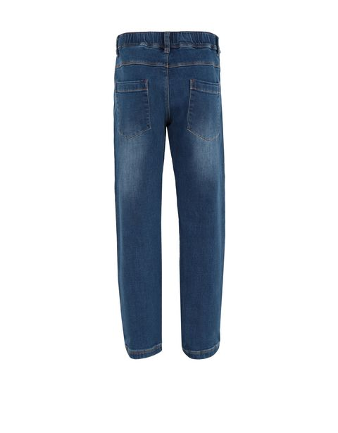 Boys' trousers in denim-effect fleece