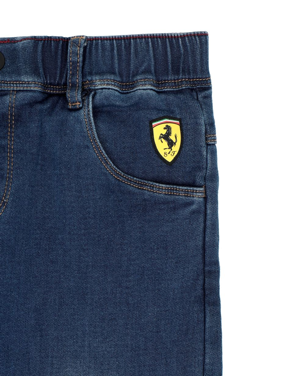 Scuderia Ferrari Online Store - Boys' denim-effect sweatpants - 5-pocket-pants