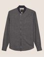 ARMANI EXCHANGE ASYMMETRICAL GRID PRINT ZIP-UP JACKET Checked Shirt [*** pickupInStoreShippingNotGuaranteed_info ***] r