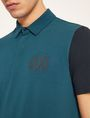 ARMANI EXCHANGE POLO COLOR BLOCK CON LOGO STILE GLOBO Polo a maniche corte [*** pickupInStoreShippingNotGuaranteed_info ***] b