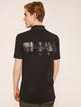 ARMANI EXCHANGE STENCILED LOGO BACK POLO SHORT SLEEVES POLO Man e