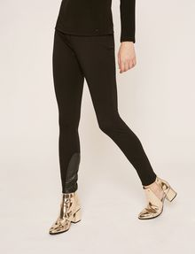ARMANI EXCHANGE LEGGING À EMPIÈCEMENTS EN SIMILICUIR Legging Femme f