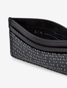 ARMANI EXCHANGE ALLOVER LOGO PRINT CARDCASE Wallet Man r