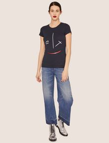 ARMANI EXCHANGE METALLIC WINK CREW Graphic T-shirt [*** pickupInStoreShipping_info ***] d