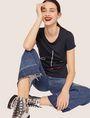 ARMANI EXCHANGE METALLIC WINK CREW Graphic T-shirt [*** pickupInStoreShipping_info ***] a