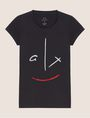 ARMANI EXCHANGE METALLIC WINK CREW Graphic T-shirt [*** pickupInStoreShipping_info ***] r