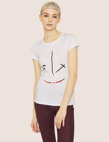 ARMANI EXCHANGE METALLIC WINK CREW Graphic T-shirt Woman f