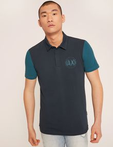ARMANI EXCHANGE WORLD LOGO COLORBLOCK POLO SHORT SLEEVES POLO Man f