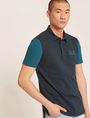 ARMANI EXCHANGE WORLD LOGO COLORBLOCK POLO SHORT SLEEVES POLO Man a