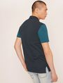 ARMANI EXCHANGE WORLD LOGO COLORBLOCK POLO SHORT SLEEVES POLO Man e