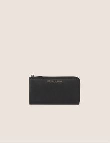 ARMANI EXCHANGE DENIM EFFECT HALF-ZIP LONG WALLET Wallet [*** pickupInStoreShipping_info ***] f