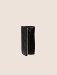 ARMANI EXCHANGE DENIM EFFECT HALF-ZIP LONG WALLET Wallet [*** pickupInStoreShipping_info ***] r