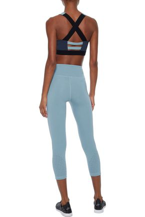 IRIS & INK Steffi cutout two-tone stretch sports bra