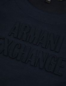 ARMANI EXCHANGE GIRLS DEBOSSED LOGO SWEATSHIRT TOP Layering [*** pickupInStoreShipping_info ***] e