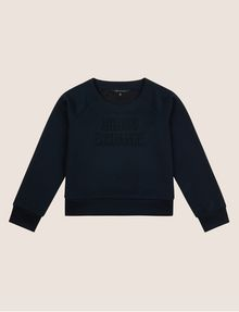 ARMANI EXCHANGE GIRLS DEBOSSED LOGO SWEATSHIRT TOP Layering [*** pickupInStoreShipping_info ***] f