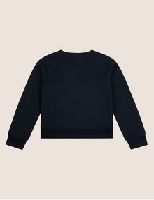 ARMANI EXCHANGE GIRLS DEBOSSED LOGO SWEATSHIRT TOP Layering [*** pickupInStoreShipping_info ***] r