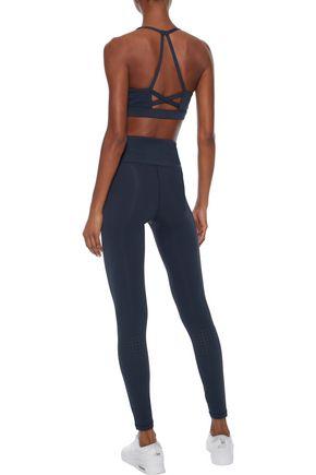 IRIS & INK Marta cutout perforated stretch sports bra