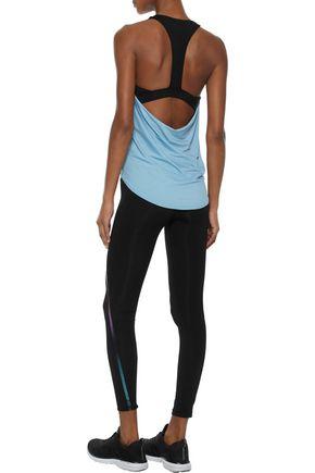 IRIS & INK Abby metallic-trimmed stretch leggings