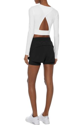 IRIS & INK Wilma layered stretch shorts