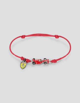 Scuderia Ferrari Online Store - Children's bracelet with racecar and Shield - Pendants & Bracelets