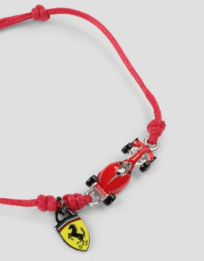 Scuderia Ferrari Online Store - Children's bracelet with racecar and Shield -