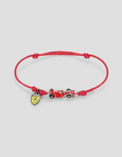 Children's bracelet with racecar and Shield