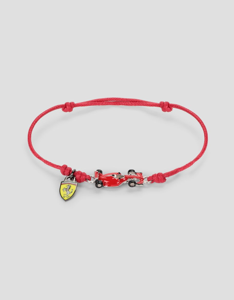 Scuderia Ferrari Online Store - Children's bracelet with single-seater and Shield - Pendants & Bracelets
