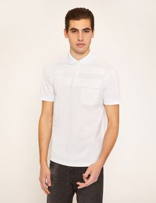 ARMANI EXCHANGE TONAL STRIPE PIECED POCKET POLO SHORT SLEEVES POLO Man f